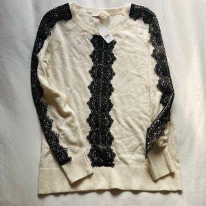 NWT cream Loft wool blend sweater